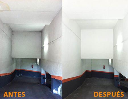 Pintura de garajes en Madrid